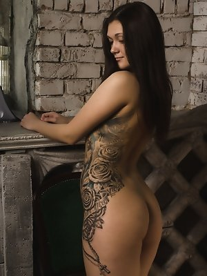 Nistia, strips off her...